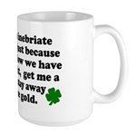 Inebriate Leprechaun Irish Large Mug