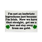 Inebriate Leprechaun Irish Rectangle Magnet