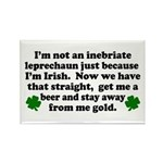 Inebriate Leprechaun Irish Rectangle Magnet (10 pa