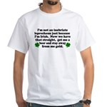 Inebriate Leprechaun Irish White T-Shirt