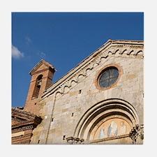 San Leonardo church, Montefollonico,  Tile Coaster