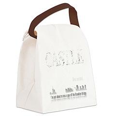 Castle_BrooklynBridge_dark Canvas Lunch Bag