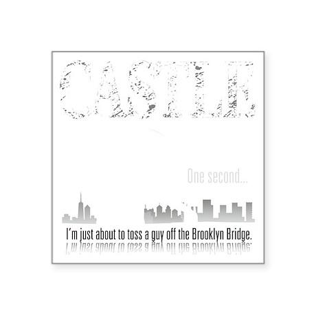 "Castle_BrooklynBridge_dark Square Sticker 3"" x 3"""
