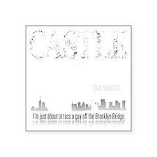 Castle_BrooklynBridge_dark Square Sticker 3
