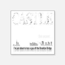 "Castle_BrooklynBridge_dark Square Sticker 3"" x 3"""