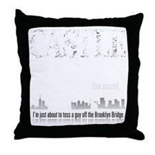 Castle_BrooklynBridge_dark Throw Pillow