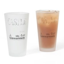 Castle_BrooklynBridge_dark Drinking Glass