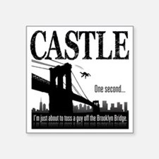 "Castle_BrooklynBridge_lite Square Sticker 3"" x 3"""