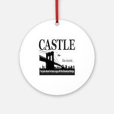 Castle_BrooklynBridge_lite Round Ornament