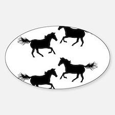 Black Wild Horses Decal