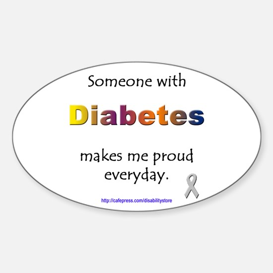Diabetes Pride Oval Decal