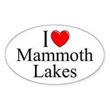"""I Love Mammoth Lakes"" Oval Decal"