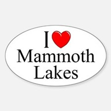 """""""I Love Mammoth Lakes"""" Oval Decal"""