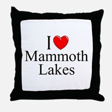 """I Love Mammoth Lakes"" Throw Pillow"