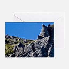 Northern Fulmar soars cliff-side nea Greeting Card