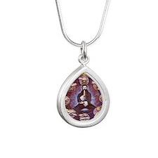 circle Silver Teardrop Necklace