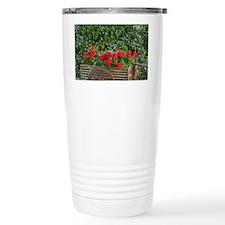 Tuscany. Red geraniums spill ou Travel Mug
