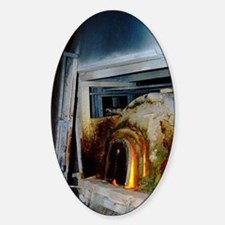 Murano glass workshop, glass oven.a Decal