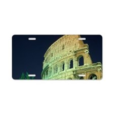 Italy, Rome, Colosseum by n Aluminum License Plate