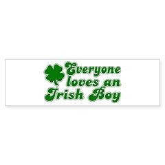 Everyone Loves an Irish Boy Bumper Bumper Sticker