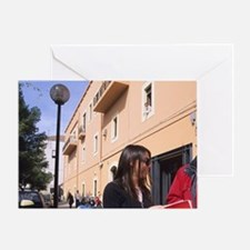 Italy, Cagliari. University students Greeting Card
