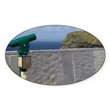 Green telescope at the Cliffs of Mo Decal