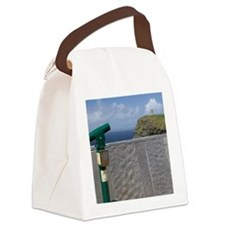 Green telescope at the Cliffs of  Canvas Lunch Bag