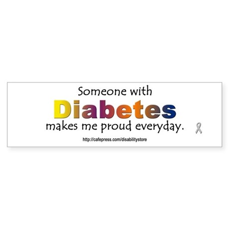 Diabetes Pride Bumper Sticker