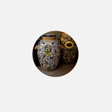 Ceramic vases with colorful patternste Mini Button