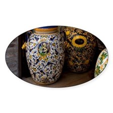 Ceramic vases with colorful pattern Decal