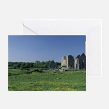Ireland, County Clare, Quinn Abbey Greeting Card