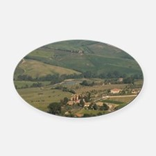 Montepulciano, Val d'Orcia, Siena  Oval Car Magnet