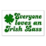 Everyone loves an Irish Lass Rectangle Sticker
