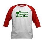 Everyone loves an Irish Lass Kids Baseball Jersey