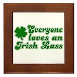 Everyone loves an Irish Lass Framed Tile
