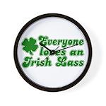 Everyone loves an Irish Lass Wall Clock