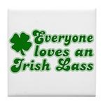Everyone loves an Irish Lass Tile Coaster