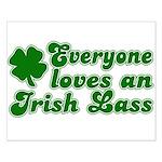 Everyone loves an Irish Lass Small Poster