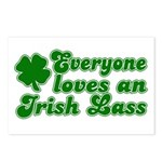 Everyone loves an Irish Lass Postcards (Package of