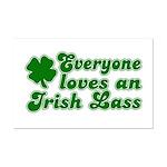 Everyone loves an Irish Lass Mini Poster Print
