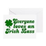 Everyone loves an Irish Lass Greeting Cards (Packa