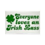 Everyone loves an Irish Lass Rectangle Magnet