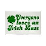 Everyone loves an Irish Lass Rectangle Magnet (10