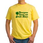 Everyone loves an Irish Lass Yellow T-Shirt