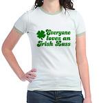 Everyone loves an Irish Lass Jr. Ringer T-Shirt