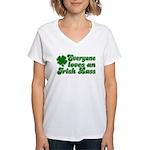 Everyone loves an Irish Lass Women's V-Neck T-Shir