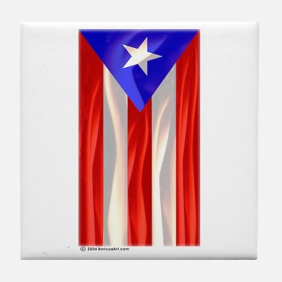 Bandera de Puerto Rico Tile Coaster