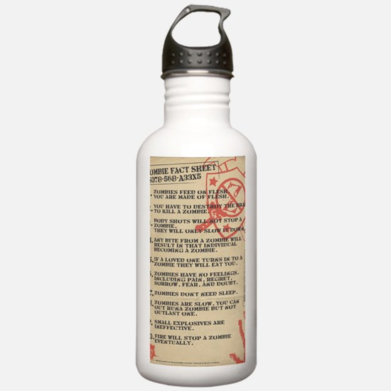 zombie-fact-sheet Water Bottle
