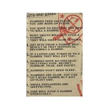 zombie-fact-sheet Rectangle Magnet