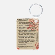 zombie-fact-sheet Keychains